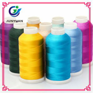Factory Dyed Polyester Embroidery Thread 75D/2, 108d/2, 120d/2, 150d/2, 250d/2 pictures & photos