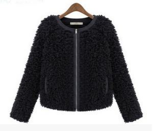 Women′s 100% Polyester Fur Coat Fashion Warm pictures & photos