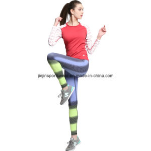 Spandex Lycra Women Compression Long Shirts and Pants for Sports pictures & photos