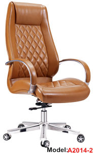 Ergonomic Executive Office Wood Leather Adjustable Boss Chair (A2013-1) pictures & photos