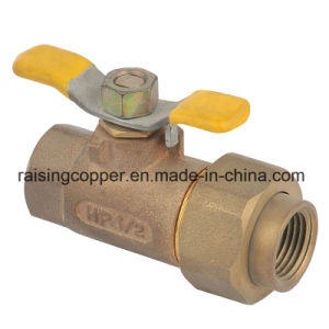 Bronze Ball Valve with Butterfly Handle pictures & photos