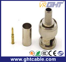 CCTV Coaxial Male BNC Connector pictures & photos