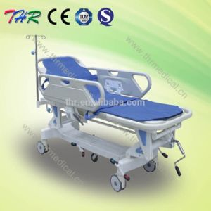 Thr-111-a Luxurious Hydraulic Hospital Manual Patient Transfer Bed pictures & photos
