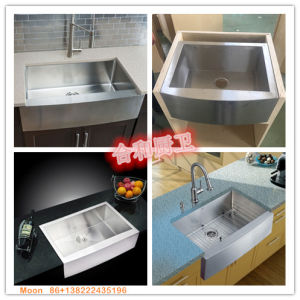 Stainless Steel Apron Farmhouse Sink for Kitchen by Handmade with Cupc Certificate pictures & photos