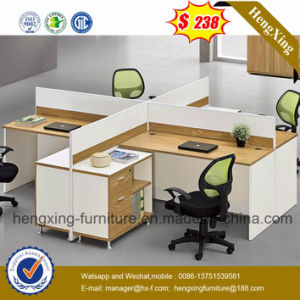 Cherry Office Furniture Melamine Workstation Office Partition (HX-6M199) pictures & photos