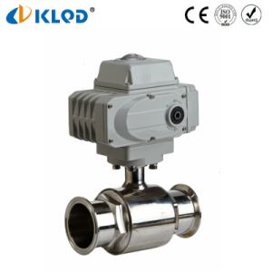 Klqd Brand Stainless Steel Electric Actuated Sanitary Ball Valve pictures & photos