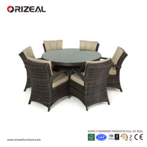 Outdoor Rattan 6-Seater Round Dining Set Oz-Or069 pictures & photos