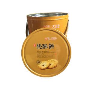 Handle Cookie Tin Container Wholesale Promotion Cookie Tin Box pictures & photos