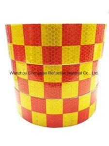 Black/Yellow Grid Design Reflective Conspicuity Tape (C3500-G) pictures & photos