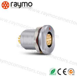 Deu 1031 A010-130 Compatible Fischer Connectors Receptacle, IP68, Panel, 10 Way, Deu 1031 Waterproof Connector pictures & photos