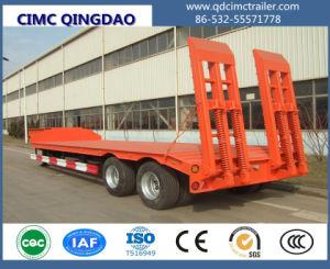 Cimc 30t-80t Gooseneck Detachable Low Bed Semi Truck Trailer Chassis pictures & photos