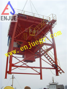 50cbm Eco-Port Rubber Type Mobile Dust Proof Hopper for Bulk Cargo Material pictures & photos