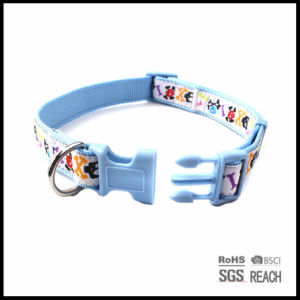Wholesale Custom Nylon Woven Pet Dog Cat Fancy Collar Skull Bone Pattern pictures & photos