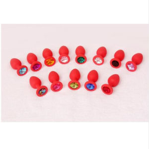 10 PCS/Lot Silicone Anal Plug Crystal Anal Toys Butt Plug Large Size Fetish Adult Products Erotic Sex Toys for Women and Men pictures & photos
