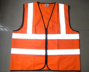 High Visibility 120g Safety Reflective Vest (Orange) pictures & photos