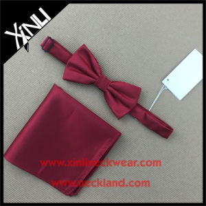 Dry-Clean Only Silk Woven Bow Tie Set Handkerchief pictures & photos