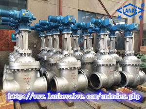 ANSI/Apiss304/Ss316 Flanged Electric Actuated Gate Valve (Z941F) pictures & photos