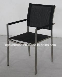 Stainless Steel Dining Chair Textilene Sling Chair Outdoor Furniture pictures & photos