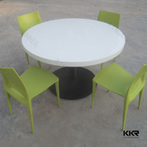 Modern Artificial Acrylic Stone Round Table for Coffee Shop pictures & photos