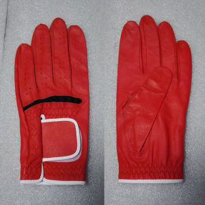 Red Cabretta Golf Glove pictures & photos