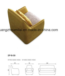 Modern New Design Fabric & Leather Sofa for Office Furniture pictures & photos