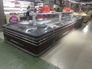 Double Island Freezer Used as Refrigeration Equipment Counter in Supermarket pictures & photos