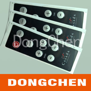 Custom Embossed Button Membrane Switch with LCD Window pictures & photos