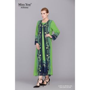 Miss You Ailinna 801958 Ladies New Design Two Piece Dress pictures & photos