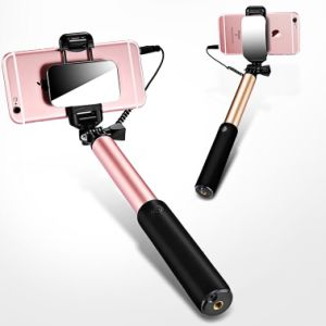 Smartphones or Mobile Phone to Photo Metal Wired Selfie Stick pictures & photos
