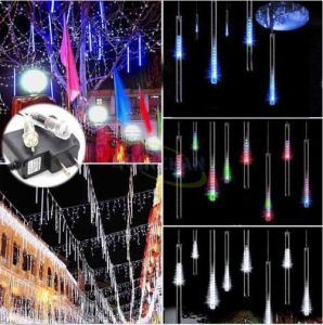 LED Meteor Shower Ce/RoHS Approved 8PCS/Set 144LEDs Rain Drop Tube Light pictures & photos