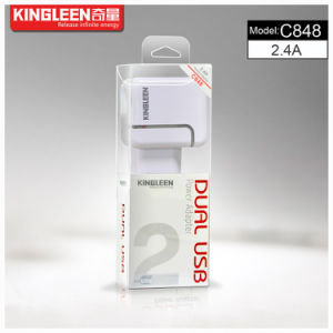 Kingleen′model C848 Dual USB Intelligent Battery Charger 2.4A/5V, Original Factory Production Export to Europe pictures & photos