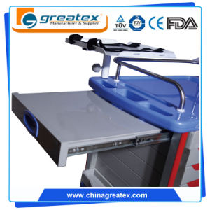 Medical Trolley for Hospital / Luxury Plastic Trolley with Central Lock (GT-Q103) pictures & photos