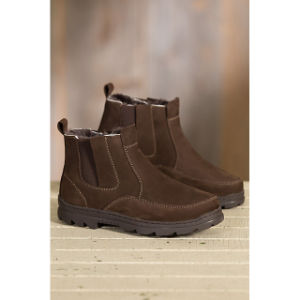 Shearling-Lined Suede Ankle Men Boots pictures & photos