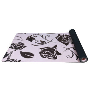 Antislip Natural Tree Rubber Yoga Mat Eco-Friendly Suede Yoga Mat pictures & photos