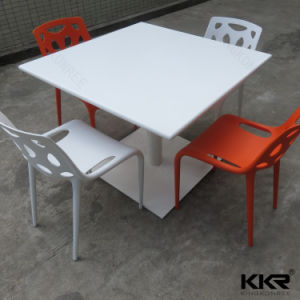 Modern Square Solid Surface Marble Stone Banquet Table (T1704123) pictures & photos