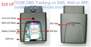 GPS Car Alarm with 3G Mobile APP Tracking System Tracking Location Car Alarm Tk208-J pictures & photos