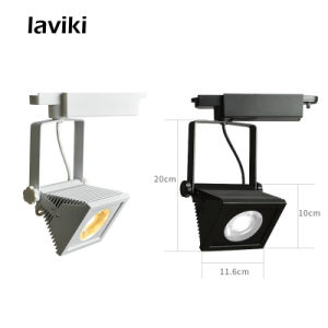 High Quality 20W 30W White Black Square COB LED Track Rail Light for Clothing Shop, Art Gallery, Showroom, Shopping Mall pictures & photos