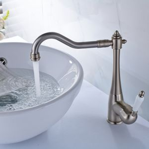Basin Faucet Brushed Nickel Cold Hot Wash Basin Faucet Tap pictures & photos