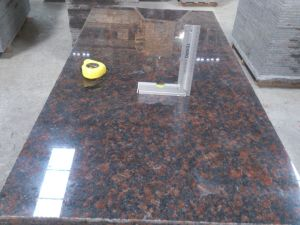 Polished/Flamed Tan Brown Granite Slabs/Tiles pictures & photos