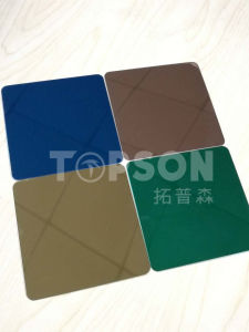 201 304 316 Color Stainless Steel Sheet with 8k Hairline Satin Etched Embossed Finish pictures & photos