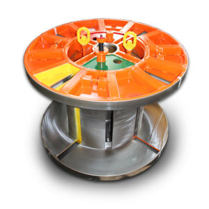Collapsible Reel Steel Cable Spool with Coiling and Lifting System pictures & photos