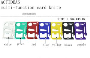 Multi-Function Outdoor Knife Tools Survival Credit Card Portable Wallet Knife 11 in 1 pictures & photos