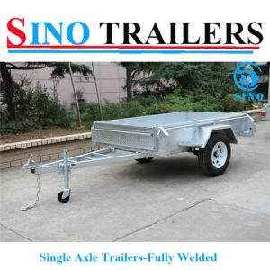 Single Axle Hot DIP Galvanized Box Trailer (Fully Welded) pictures & photos