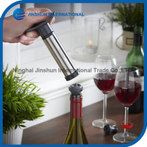 Stainless Steel Vacuum Wine Saver Pump with Stoppers Set pictures & photos