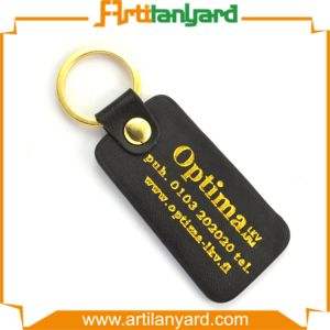 promotion Gift Metal Keyring Leather Keychain pictures & photos