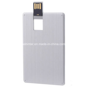 Metal Credit Card USB Memory Stick Swivel USB Pendrive pictures & photos