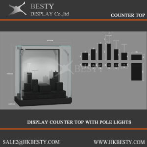 Customized Display Counter Top Showcase with LED Light pictures & photos