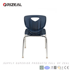 Orizeal School Furniture 2017 New Product Modern PP Seat and Metal Chromed Leg Chair pictures & photos