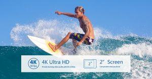 New Product WiFi Sport Camera 4k@25fps Underwater 30 Meters Waterproof pictures & photos