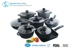 Die Casting Non Stick Aluminum with Black Cookware Set pictures & photos